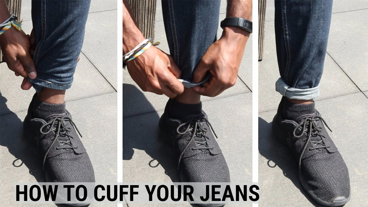 7c70799b How To Cuff Your Jeans - YouTube