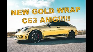 Gold Wrapped C63 AMG REVEAL!!!