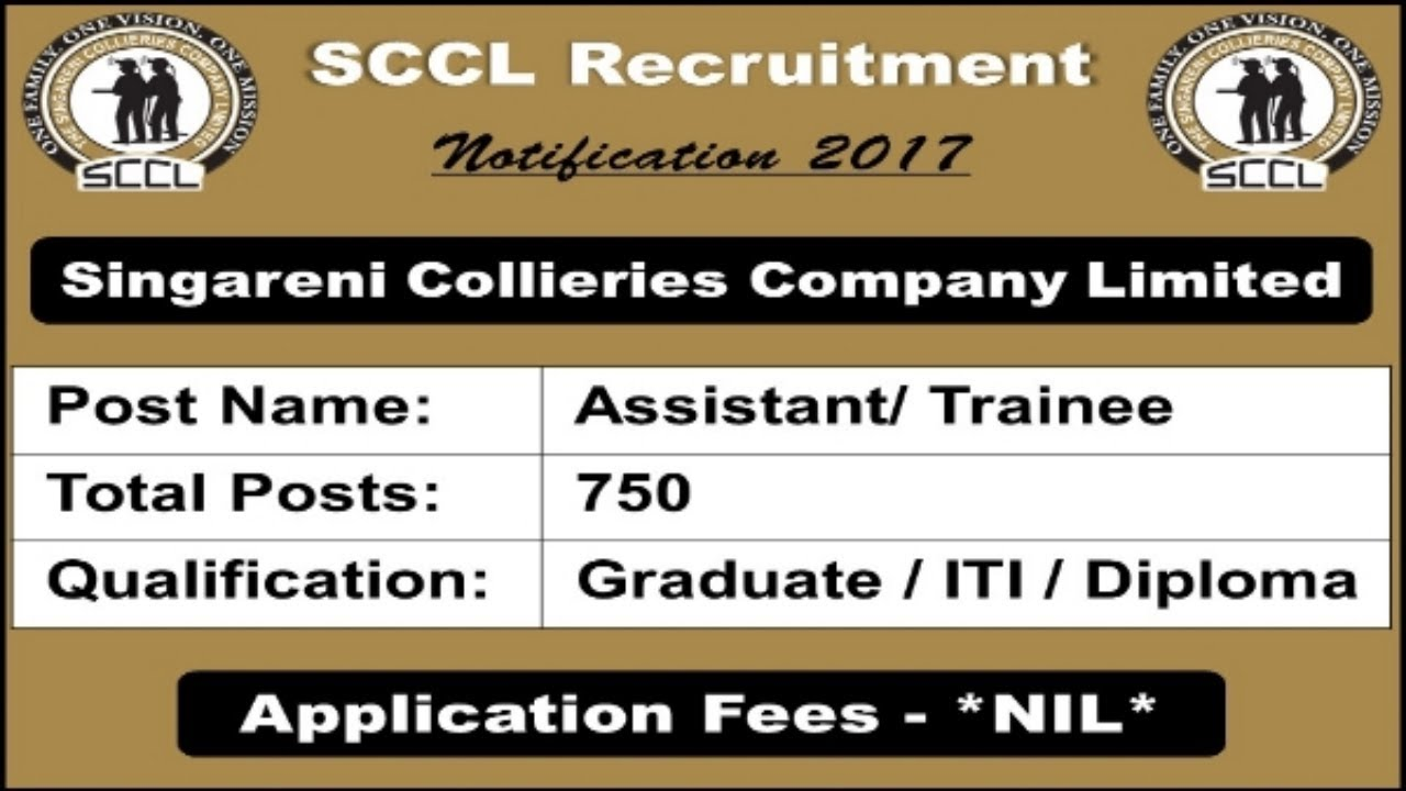 singareni collieries company recruitment graduate iti diploma  singareni collieries company recruitment graduate iti diploma pass apply