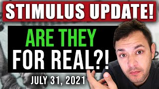 (WOW! ARE THEY FOR REAL?!) STIMULUS CHECK UPDATE & INFRASTRUCTURE BILL 07/31/2021