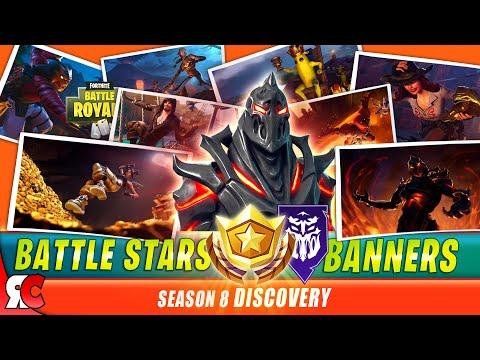 Fortnite SEASON 8 All Battlestars / Banner To Unlock RUIN Skin (Loading Screens + Secret Locations)