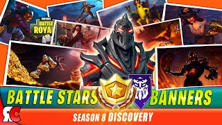 Fortnite SEASON 8 All Battlestars / Banner to Unlock RUIN Skin (Loading Screens + Secret Locations)