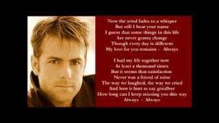 Andy Griggs - Always ( + lyrics 2002) YouTube Videos