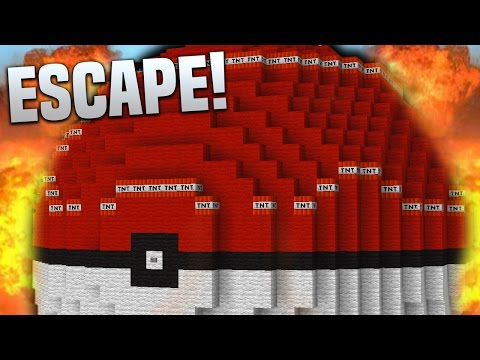 POKEBALL EXPLOSION!! | Minecraft TNT ESCAPE (FIND THE BUTTON & ESCAPE!)