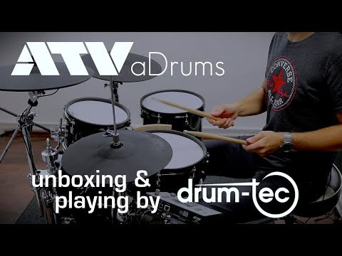 ATV aDrums electronic drums unboxing & first playing by drum-tec