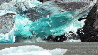 massive glacier calving