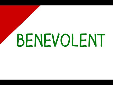 Learn English Words - Benevolent (Vocabulary Video)