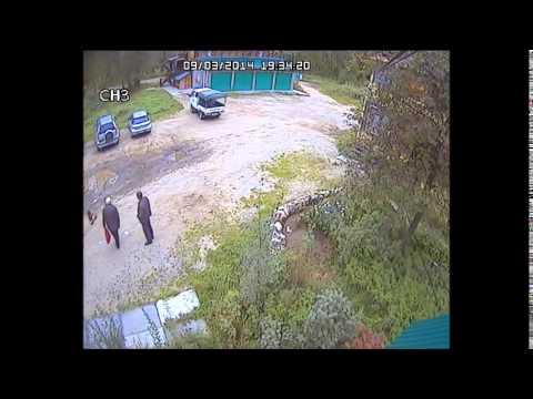 Момент убийства в Хабаровске чемпиона по пауэрлифтингу
