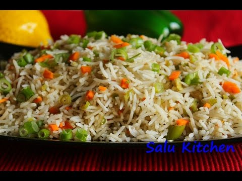 How to make quick easy vegetable fried rice youtube how to make quick easy vegetable fried rice salu kitchen ccuart Choice Image