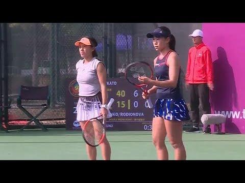 20191009 Tianjin R1 Hibino / Kato 2-0 Bondarenko / Rodionova