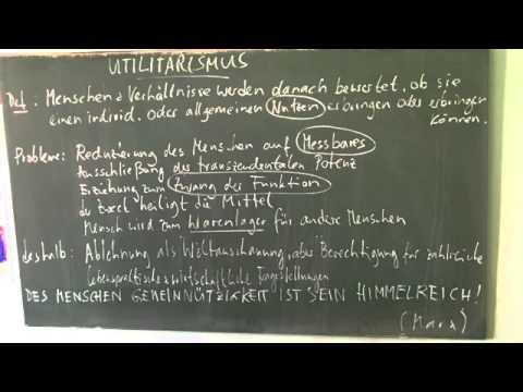 Deutsch Philosophische Ansätze Utilitarismus Deutsch Grammatik