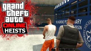 GTA 5 Online - HEISTS | Проникваме в затвор + Ново Intro и Outro