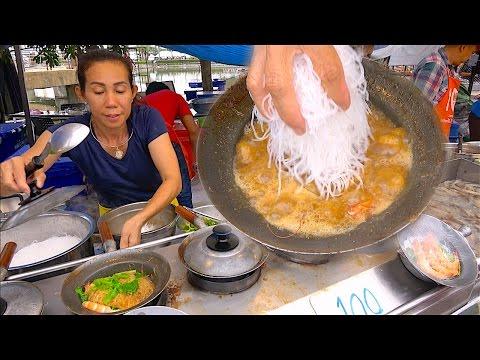 Bangkok Thailand Street Food Event - Casseroled King Prawns Glass Noodle