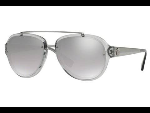 f7c8702391 Overview Of The Versace VE4327 Transparent Grey Sunglasses - YouTube