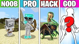 Minecraft Battle: SKELETON MUTANT EVOLUTION! NOOB vs PRO vs HACKER vs GOD in Minecraft Animation