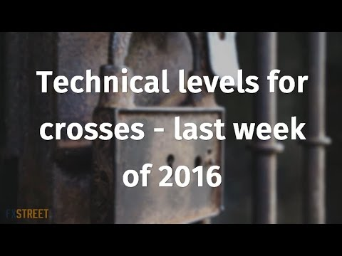 Technical levels for crosses - last week of 2016