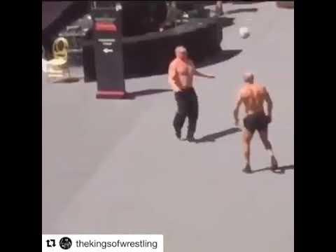 Wwe Brock Lesnar Cesaro Randy Playing Football