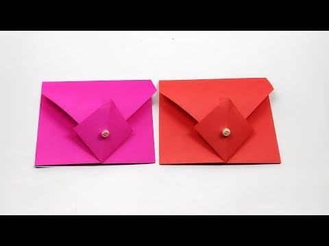 Super Easy Origami Envelope Tutorial - How to make a paper Envelope [Without Glue Tape and Scissors]