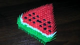 3d Origami Watermelon For Beginners (tutorial, Instructions)
