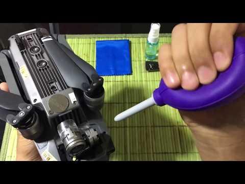 COMO LIMPAR A CÂMERA DO MAVIC PRO - HOW TO CLEAN MAVIC PRO CAM LENS