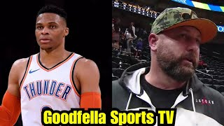 Utah Jazz Fan Allegedly Tells Russell Westbrook to Get Down on His Knees Like He Use to!!!