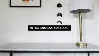 The 30 Day Minimalism Game: Everything I Decluttered + Review  |  Minimalist Home