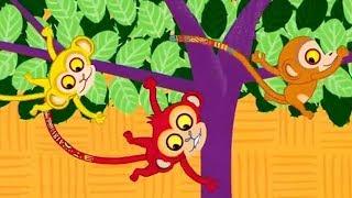 Monkey tree from a cartoon Swinging