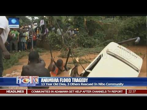 Anambra Flood Tragedy: 13-Year-Old Dies, 3 Others Rescued In Nibo Community