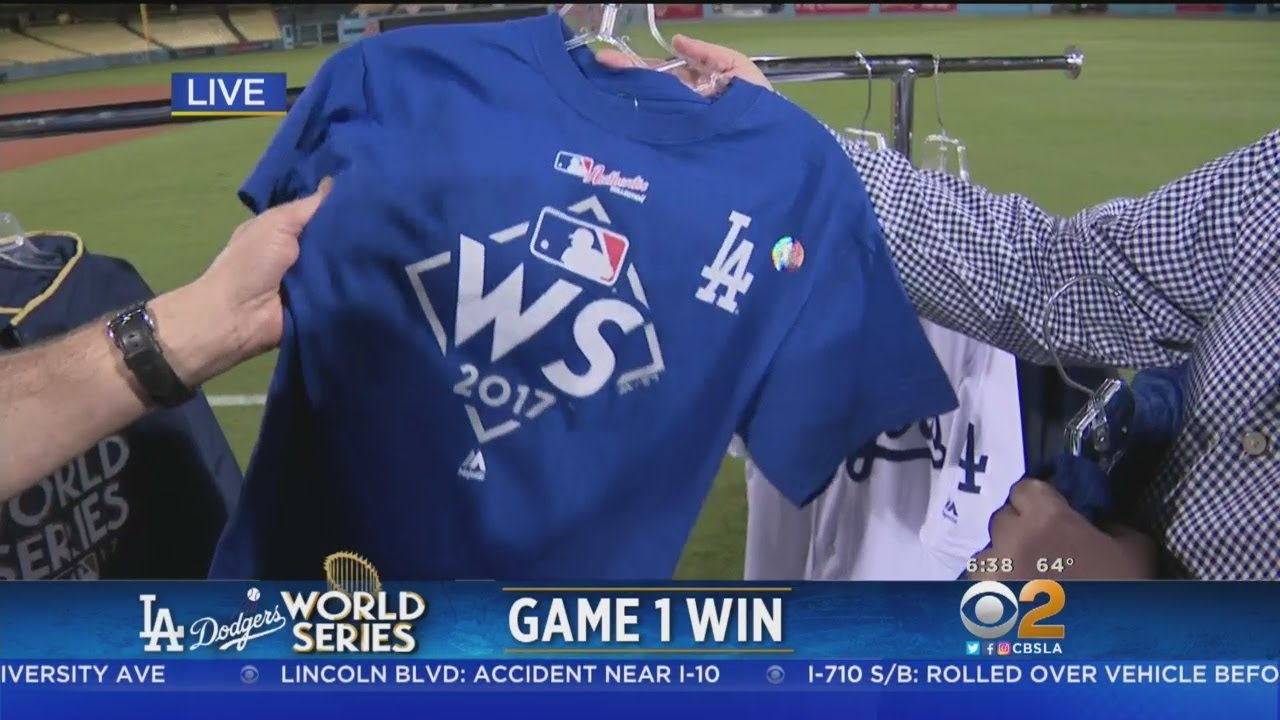 Dodgers World Series Gear Flying Off Shelves - YouTube ed0660b980a