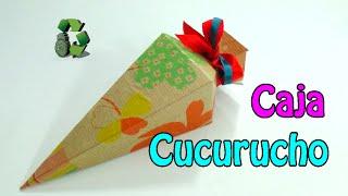 102. Manualidades: Caja sorpresas de cumpleaños (fácil) (Reciclaje de cajas de cereales) Ecobrisa.