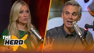 LeBron shows urgency vs the Bucks, Greek Freak has a new shoe - Kristine and Colin react | THE HERD