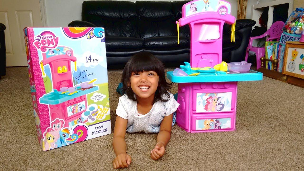 Pink Toy Kitchen Set