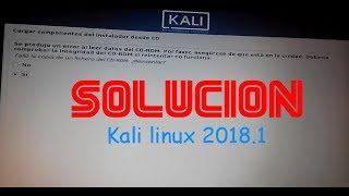 Solución ERROR CDROM en Kali linux 2018.1