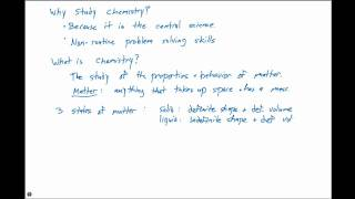 1.1 The Study of Chemistry