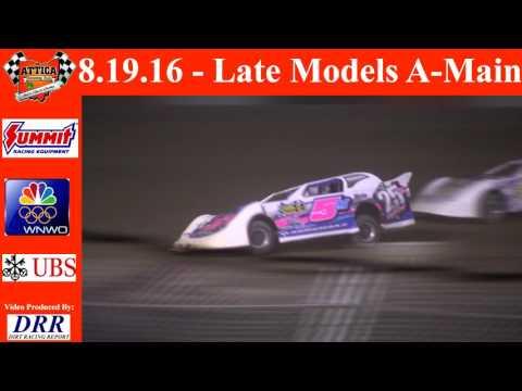 8.19.16 Attica Raceway Park  Late Models A-Main