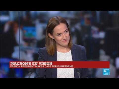 France: Macron ''gives sweeping defence of European project''