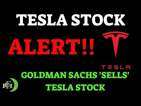 TESLA **ALERT** GOLDMAN SACHS 'SELLS' TESLA STOCK