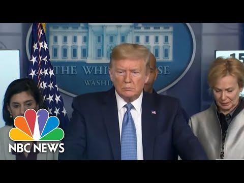 Trump Estimates Coronavirus Timeline Until 'July, August, Something Like That' | NBC News
