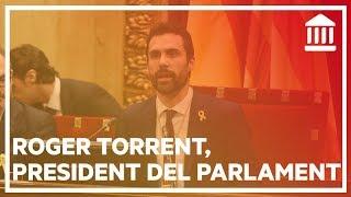 Primer discurs de Roger Torrent com a president del Parlament