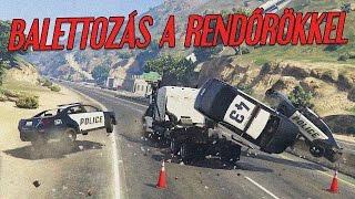 Balettozás a rendőrökkel  - GTA Online Vicces Pillanatok #47