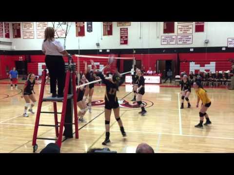 Amity Girls Volleyball vs Cheshire 10-12-2015