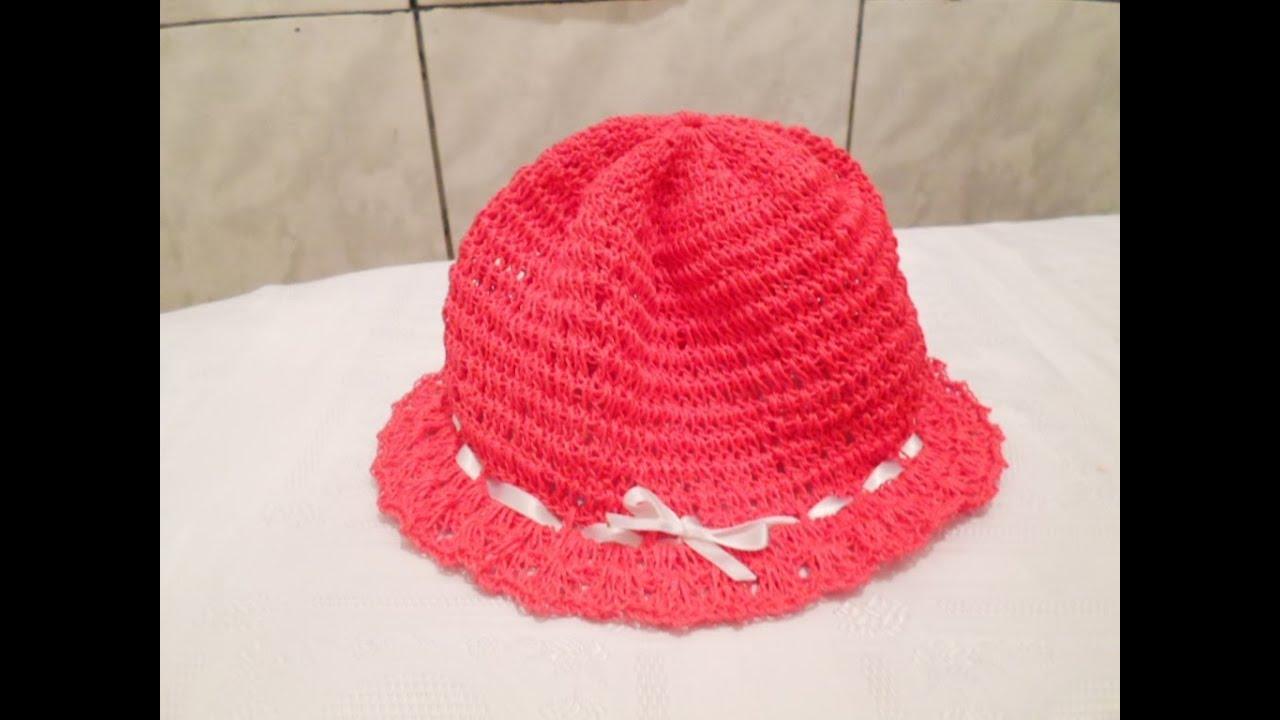 Como fazer um Chapéu Simples de Crochê para Criança - (Passo a Passo ... 204a45e306a