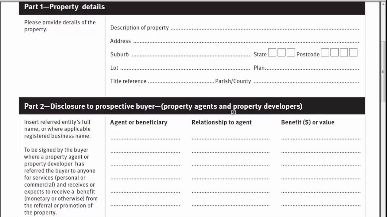 Property Occupations Act Form 8 - YouTube
