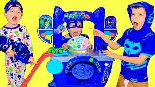 PJ Masks SAVE THE DAY HQ CATBOY FURBALL BLASTER Transforms Romeo Into Catboy