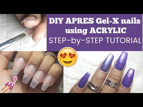 How To Apply Press,on Nails with Acrylic !! Apres Gel,X DUPE !!