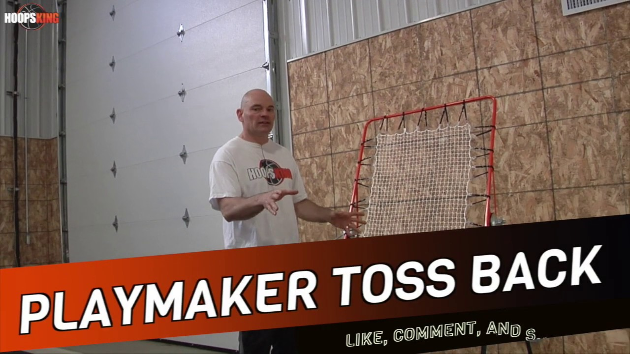 Basketball Passing Drills by Yourself w/ the PlayMaker TossBack Net