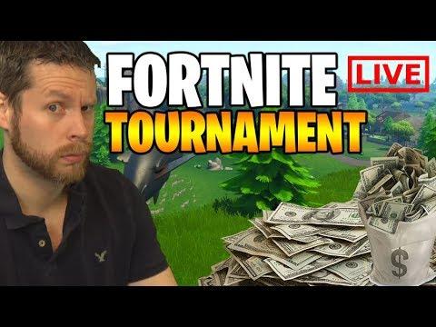 Live Fortnite Tournament Stream - REAL MONEY!!