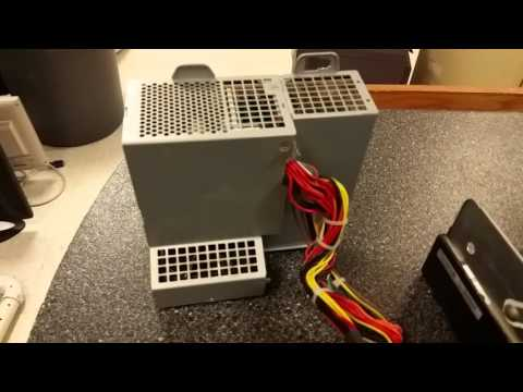 How to take power supply out of HP Compaq Desktop - YouTube