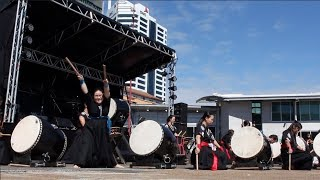 Japanese drums Outdoor Performance (kumi-daiko) | Japan Day in Auckland 2018