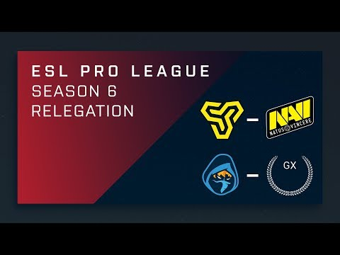 CS:GO - Space Soldiers vs. Na'Vi | Rougue vs. GX - ESL Pro League Season 6 Relegation